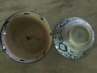 Mangkok antique keramik biru