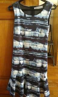 🚚 L&B blue black low waist dress #dressforsuccess30