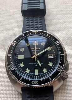 Seiko 6105 8110 Automatic Homage with Classic Black Insert