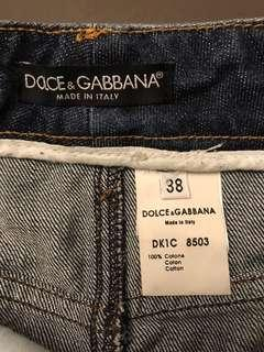 Dolce and Gabbana denim skirt size 38