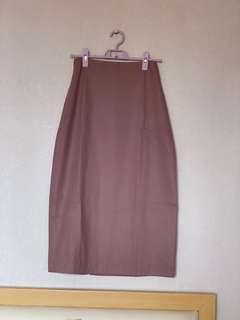 [全新 未剪牌] 斯文 番工 鉛筆 中長裙 及膝 暗粉紅 Air Space Lady Mid Length Pencil Dress