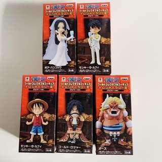 日版 海賊王 One Piece 限定wcf 路飛 女帝 羅傑 奧茲 全5種