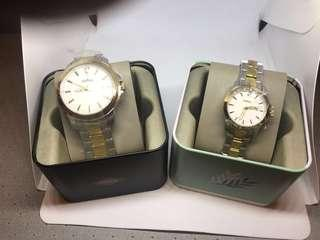 Fossil His & Hers 3-Hand Chronograph Watch