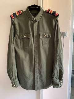 🚚 Balmain x H&M Military Officer Shirt