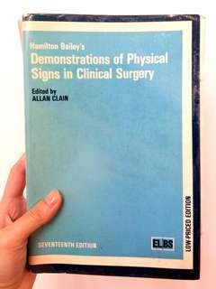(醫科書本) Hamilton Bailey's Demonstrations of physical signs in clinical surgery