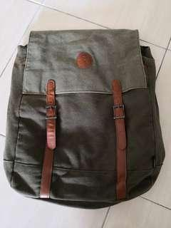 Green backpack 3 compartments