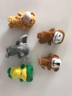 Animals finger puppets