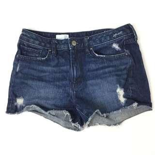 GAP Slim Cut Offs Dark Blue Denim Shorts