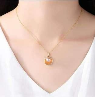 Grace Shell Natural Pearl Necklace 925 Stamp Sterling Silver - Brand New