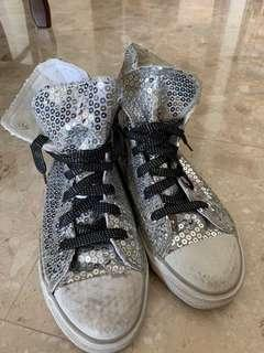 🚚 Sequinned High Cut Sneakers