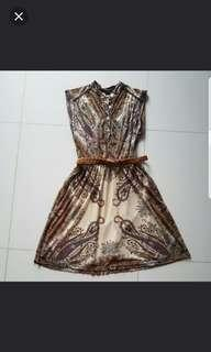 Mango MNG Paisely Dress