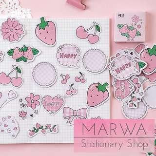 45pcs Things In Delicate Pink Sticker Pack (Candy Poetry- CP058)