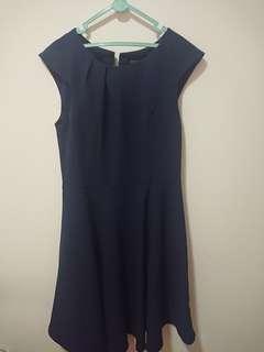 """Navy Blue Dress """"Body & Soul"""""""