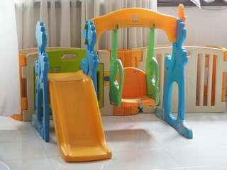 Baby Kids Playground Swing & Slide set