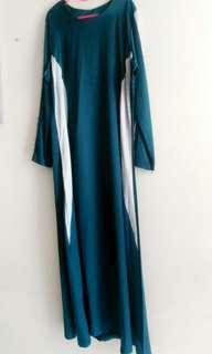 Turquoise & Silver Dress/Jubah