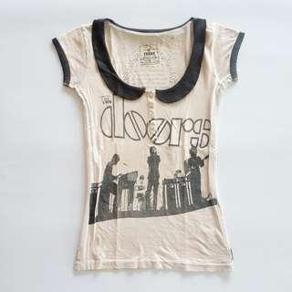 Rare Trunk Ltd The Doors Collar T-shirt