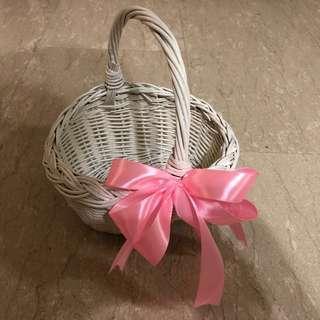 Handmade flower girl / egg wicker basket