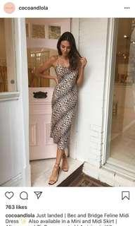 Bec and bridge feline midi BNWT