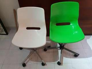 Ikea Snille Office Chair - Green and White