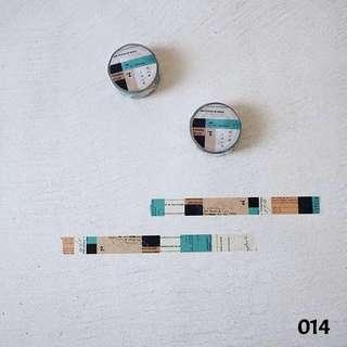 [New] YOHAKU Original Washi Tape - Jade Tea