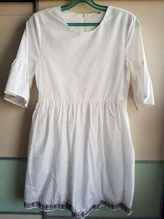 🚚 White baby doll dress