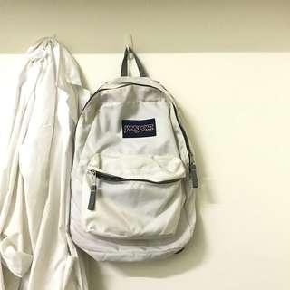 🚚 Jansport白色後背包