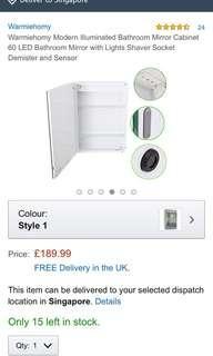 🚚 LED bathroom mirror cabinet