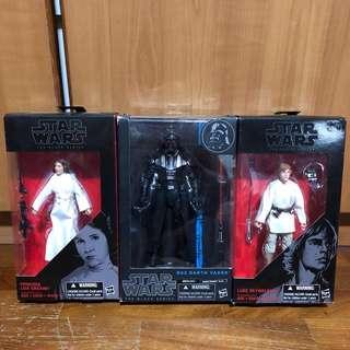 Star Wars Black Series Darth Vader + Luke + Leia