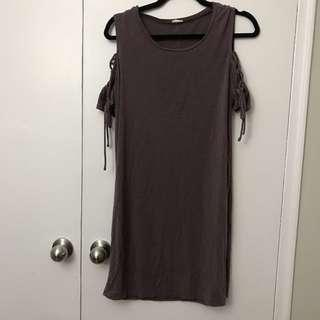 Purple Tie T-Shirt Dress