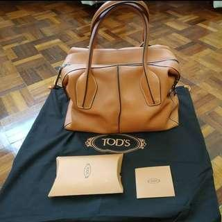 PRELOVED AUTHENTIC TOD'S D-STYLING BAULETTO LEATHER SATCHEL