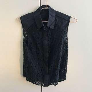 Black lace see-through top #SwapAU