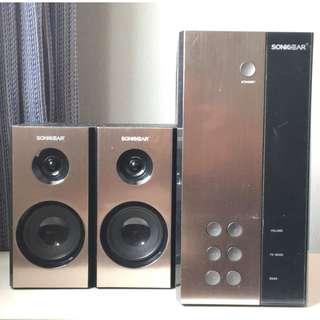 SONIC GEAR EVO 3 Platinum Speakers - EXCELLENT -Built-in woofer!