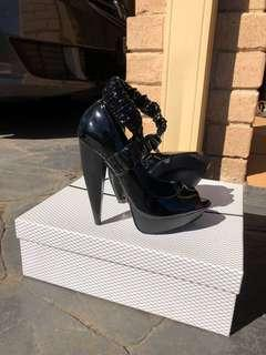 Siren Platform Black Heel 6