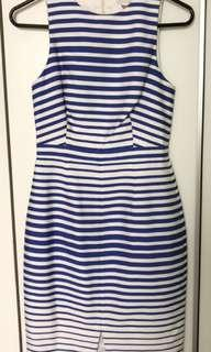 Forever New Blue & White Striped Dress
