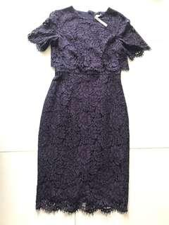 🚚 Deep purple lace dress