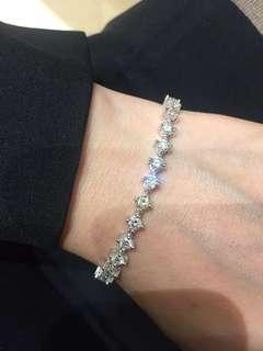 鑽石手鍊4.68ct-18k白金低於成本價放