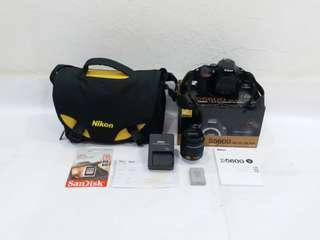 NIKON D5600 with 18-55mm, 24.2MP, WiFi, Full HD 1080P, Complete Set & still under NIKON Warranty, SC: 4173