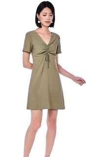EDITORS MARKET green push up dress