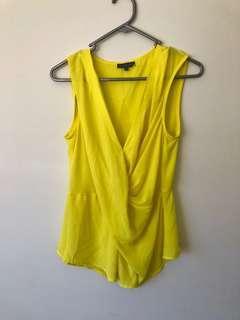 SHEIKE Yellow Corporate Wrap Blouse Shirt 8