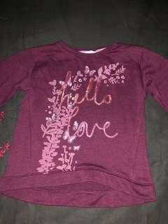H&M girls sweater/long sleeve top