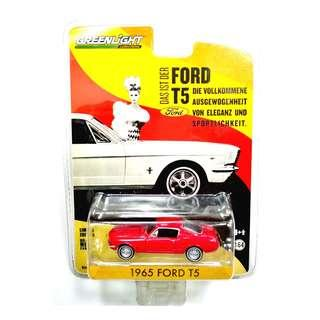 Greenlight 1965 FORD T5 Red Diecast Car Metal Chassis