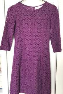 Future State Purple Lace Dress
