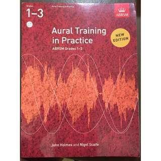 ABRSM Piano Grade 1-3 Aural Tests book