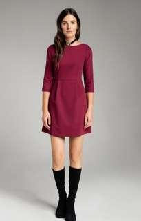 BN Misebla Claret Trapezium Dress