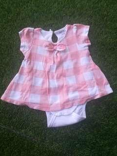 Romper Dress - Peach New Born