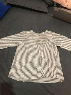 COTTONINK stripes top