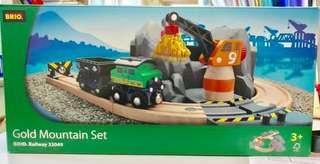 絕版 Brio Railway 33049 Gold Mountain Set 木製 火車 路軌