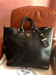 🚚 Prada Vitello Black Reduced Price