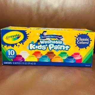 Crayola Washable Kid's Paint 可水洗顏料 Messy Play 塗鴉