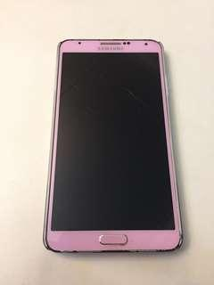 Cracked Screen Samsung Note 3 for Sale